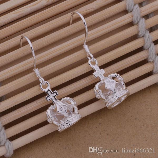 Мода (производитель ювелирных изделий)стерлингового серебра 925 ювелирные изделия императорская корона серьги ювелирные изделия серебряные ювелирные изделия заводская цена мода