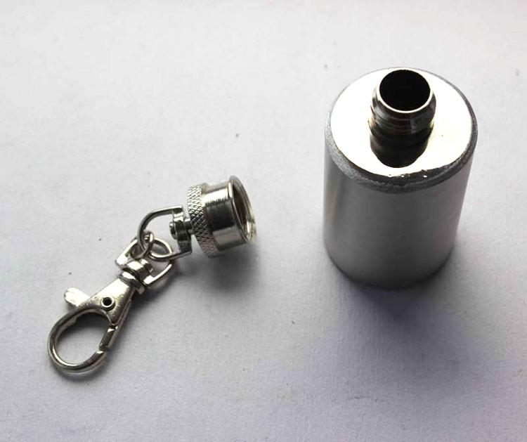 Hip flask with key chain