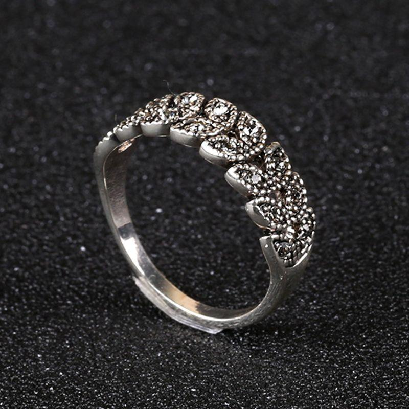 레트로 반지 금은 크리스탈로 포장 고대의 방법을 매일 매일 착용에 대한 곡물 민족 여성 반지를 복원 포장 FJ0005