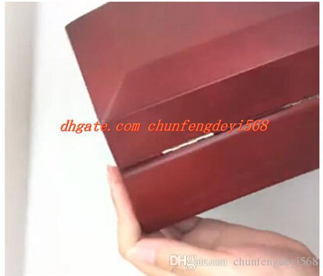 Fabrika Tedarikçisi Toptan Lüks Kırmızı İzle Kutuları Mens Izle Kutusu Ahşap Iç Dış Erkekler kadının Saatler Kutuları Kağıtları