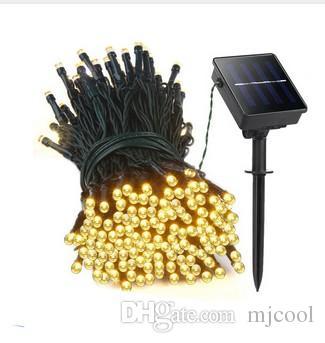웨딩 가든 파티 장식을위한 22M 200 LED 태양 광 주도의 문자열 조명 화환 크리스마스 태양 램프