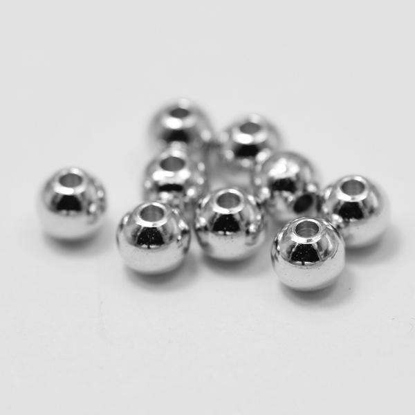 jewelry component 8mm brass imitation rhodium heavy beads 100pcs/lot pave jewelry with beads
