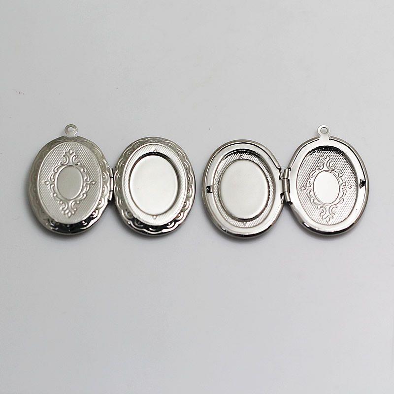 Brass locket photo pendant,33x23.5mm & 23x16mm,hole:approx 1.5mm,oval,nickel free,lead safe,ID9626