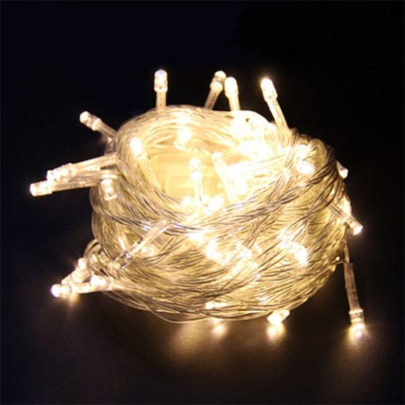 크리스마스 야외 크리스마스 조명 LED 스트링 조명 10M 나무 화환을 조명 100 개 LED가 하늘에 불빛이 Decoracion 요정 빛 휴일 조명