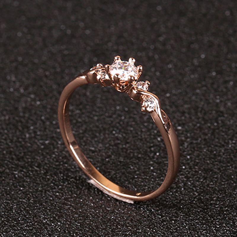 Ол Леди модные восемь сердце восемь стрелки Циркон кольцо 18k розовое золото покрытием мода высокого класса декоративные ювелирные изделия FJ0003