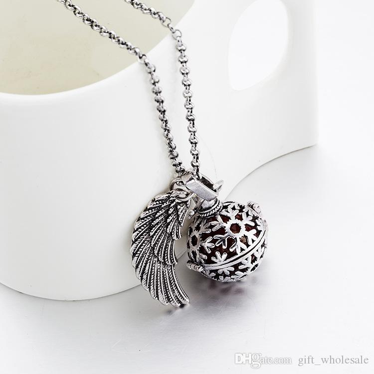 New Pregnancy Ball Bola Nickel Black Angel ball in Pendants Baby Chime Necklace Jewelry With Chain 24pcs