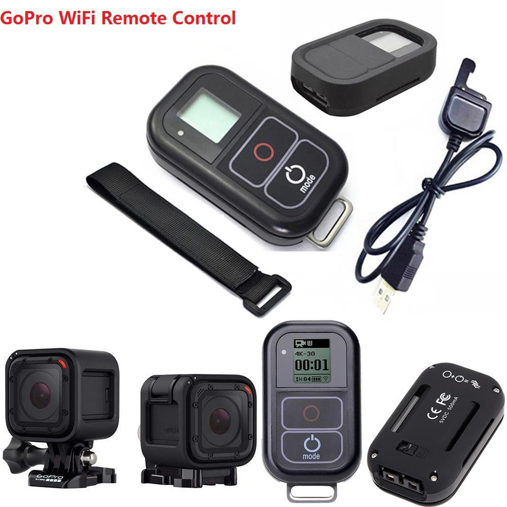 Freeshipping For GoPro Hero 4 Session Smart Waterproof WIFI Remote Control+Action Camera Remote Control Accessories