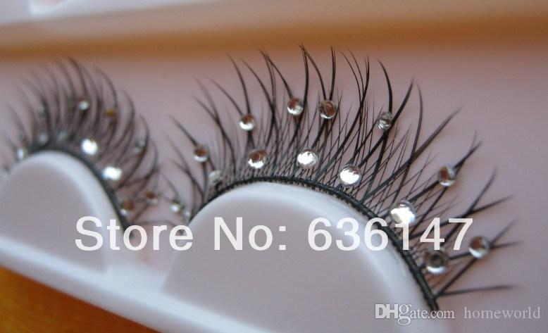 (Minimum order $ 5) End of a single rhinestone false eyelashes xz-024 False Eyelashes