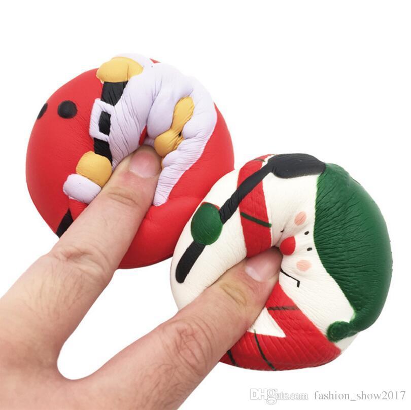 Jumbo Squishy Slow Rising Santa Claus/Snowman Kawaii Cute Animal Sweet Scented Charms Bread Cake Kid Christmas Toy Doll Gift Fun