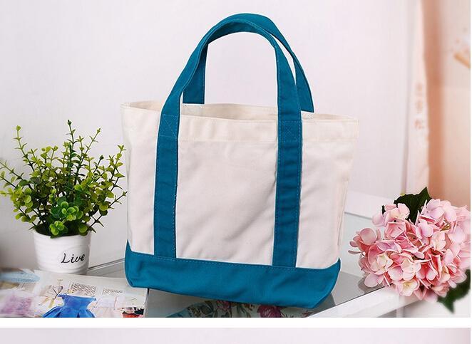 سميكة قماش كيس أكياس التسوق أكياس تحمل أكياس قماش حقيبة الكتف أزياء 10PCS