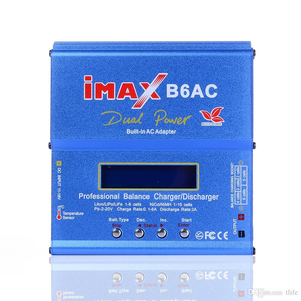 Original SKYRC iMAX B6AC V2 6A Bateria Lipo Balance Charger Display LCD Discharger Para RC Modelo de Carregamento Da Bateria Re-peak Mode Hot + NB