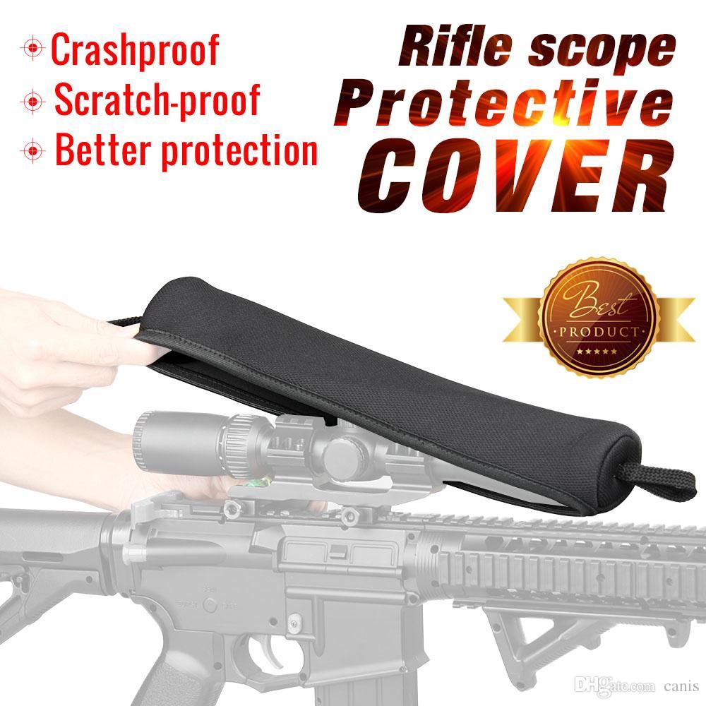 Nuovo arrivo Molle Pouch Black Neoprene Rifle Scope Cover impermeabile per uso esterno cl6-0096