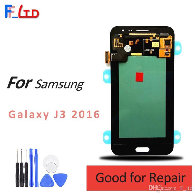 Super AMOLED HD per Samsung Galaxy J3 2016 J320 J320F J320H J320M J320FN Display LCD Digitizer Assembly Sostituzione 100% Testato