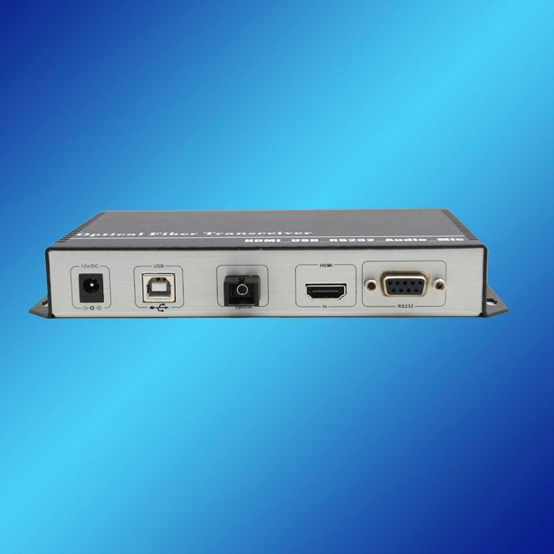 PC-signaal over vezelvergroter, 20km, enkele modus, enkele vezel; PC-signaal naar optische media-omzetter; PC Signaal Extender
