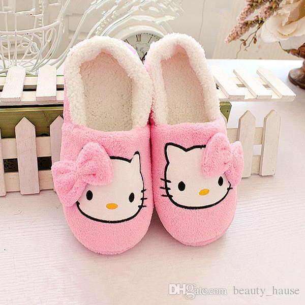 Cwait Kids Summer Cute Bear Slippers House Bedroom Girls Slippers Open Toe