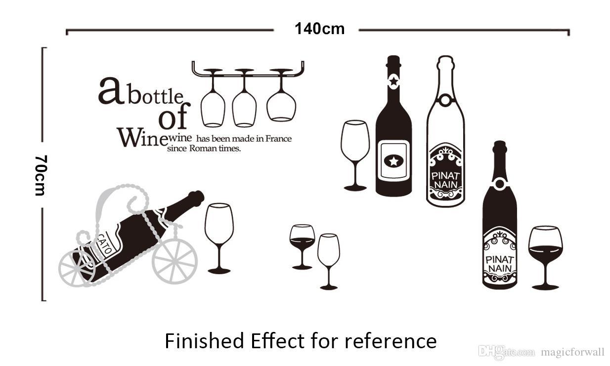 Wine Bottle Vinyl Decal The Beatles