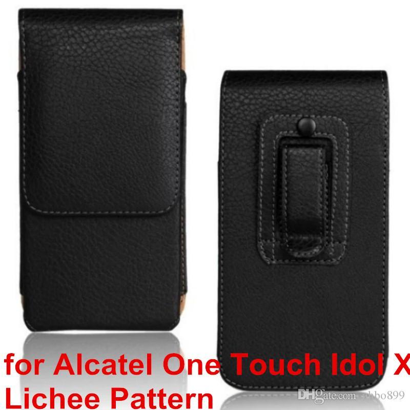 Высокое качество искусственная кожа чехол для мобильного телефона зажим для ремня чехол для Alcatel One Touch Idol X 6040 6040A 6040D