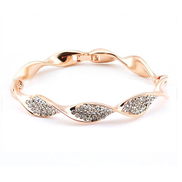 Fashion Bracelet Gold Hand Chain Fashion Design Real Gold Plating