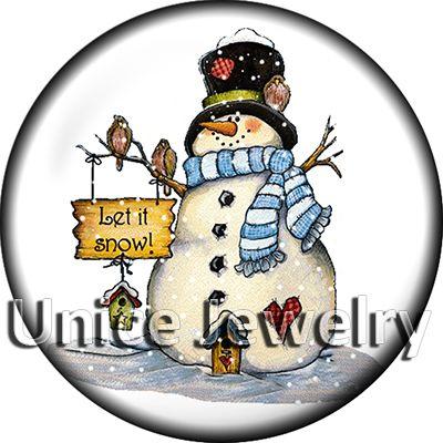 AD1302596 12/18/20 мм оснастки на подвески для браслет ожерелье горячие продажа DIY выводы стекло Snap кнопки Снеговик дизайн Нуса,изготовление ювелирных изделий,DIY,