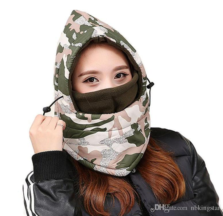 Camouflage Waterproof Full Face Mask Wind Proof Hat Variety Fleece Warmer Motorcycle Cycling Hooded Beanies Caps