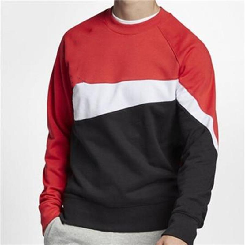 nike la camiseta para hombre de la marca remiendo logotipo grande de manga larga de color puro jerséis con capucha Deportes Casual activa que se ejecuta basculador de gimnasia Moda