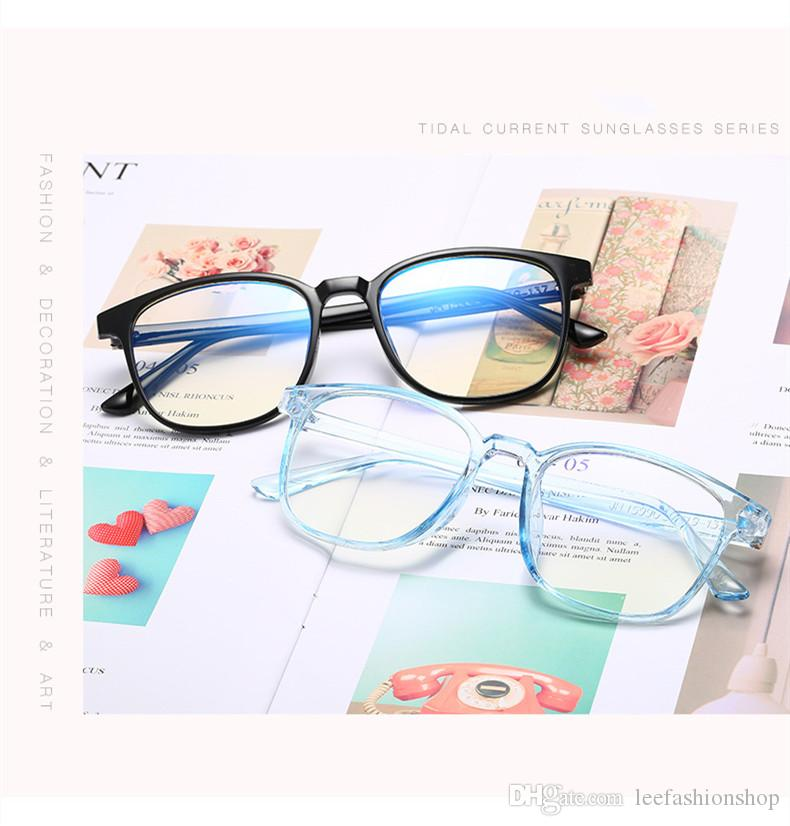 Retro Square Optical Glasses Classic Vollformat Männer Frauen Computer Clear Brille Brillen Unisex Reading Eyewear 5 Farben 15990