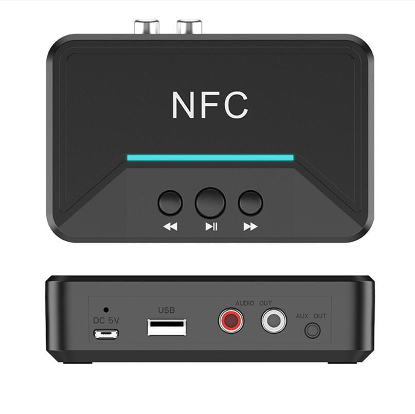 BT200 NFC Bluetooth 5.0 Receiver 3.5mm AUX Adapter Auto On/OFF Bluetooth 5.0 4.2 Car Audio Receiver