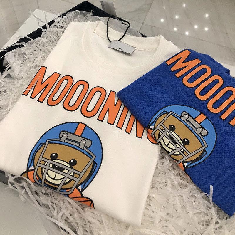 Лето Детская одежда Мальчики Тенниска хлопка мультфильм медведь с коротким рукавом футболки Kid Мальчик Повседневный Симпатичные футболки 2-8Years рубашка T200511