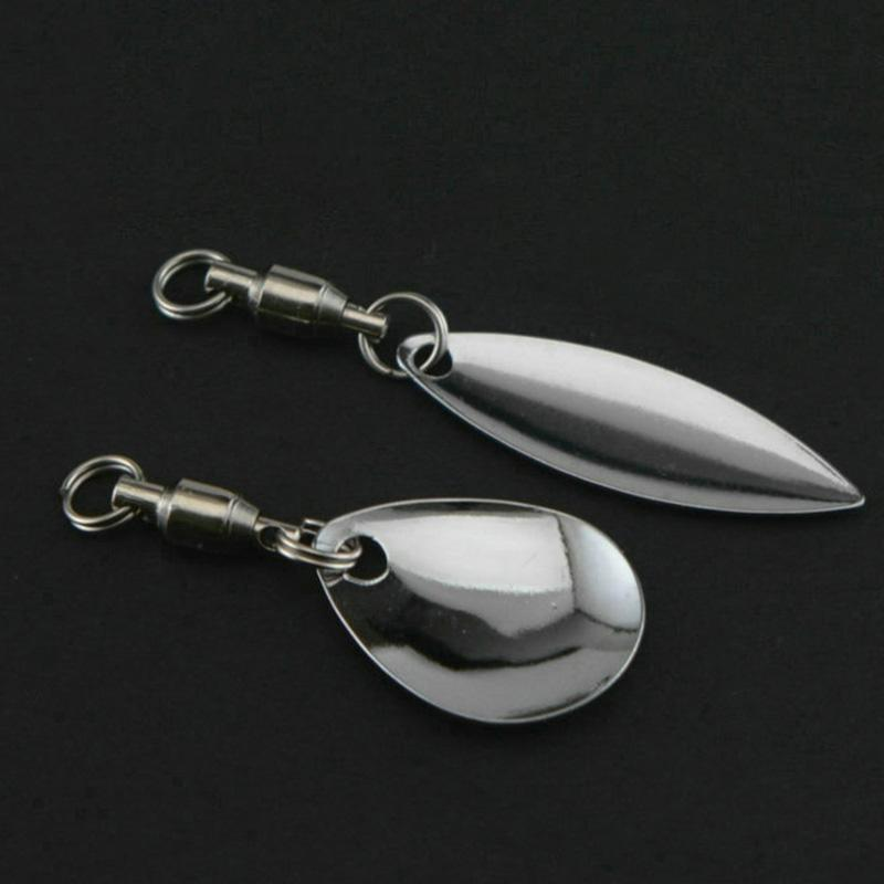 OUTKIT 6 Pcs/lot Lure DIY For Spinner Spoon Lures Frogs VIB Reflective Stainless Steel Sheet Noisy Spoons Fishing Accessories