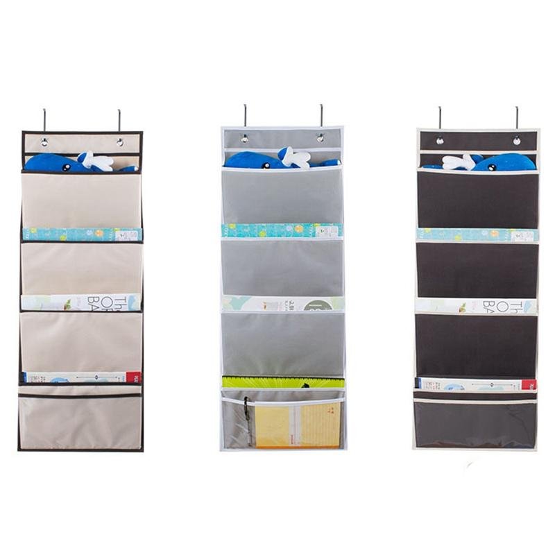 HHO-Hanging Wall Organizer, Hanging File Folders Wall Mount/Over The Door Office Supplies Storage Mail Organizer For Notebooks,P