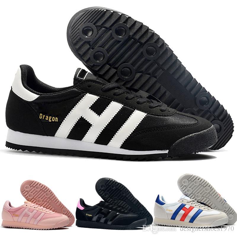 Compre Designer Shoes Adidas Men Women Clásicos De 2019 Originales Dragón  Rojo Azul Rayas Negras Hombres Mujeres Superstar Holograma Blanco ...