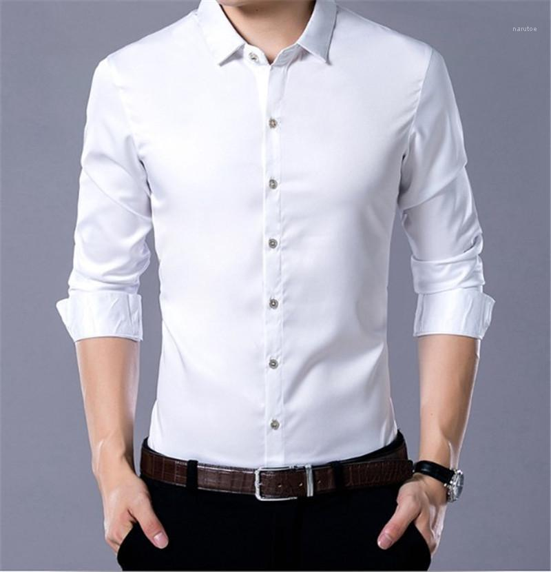 Camice di affari Mens gira giù Panelled Mens Tops manicotto lungo sottile casuale Boy Top Designer