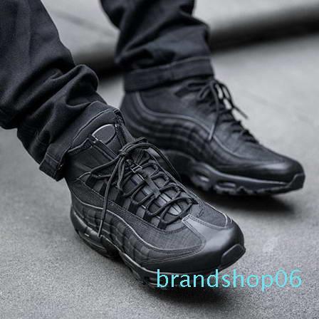 95 cargadores del tobillo Hight Top 95s del amortiguador nuevo de la manera Botas Negro Verde marrones de los hombres impermeables zapatos de trabajo Botas de los hombres de alta calidad 01