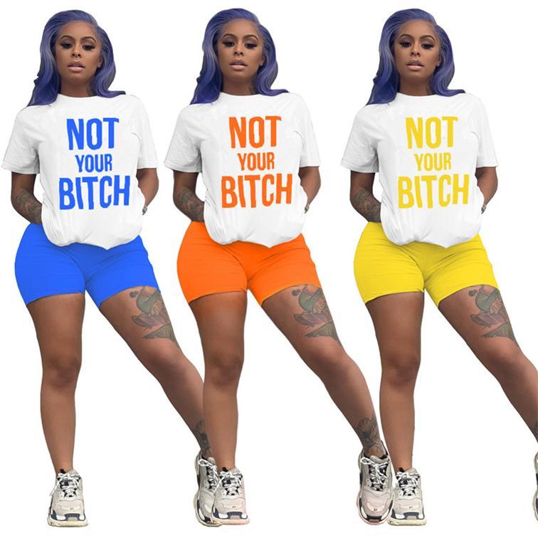 Mulheres Sports Suit Designer letras impressas de manga curta camisa branca de T T Shorts Set Marca Two Piece Conjuntos de luxo D6804 Verão Treino