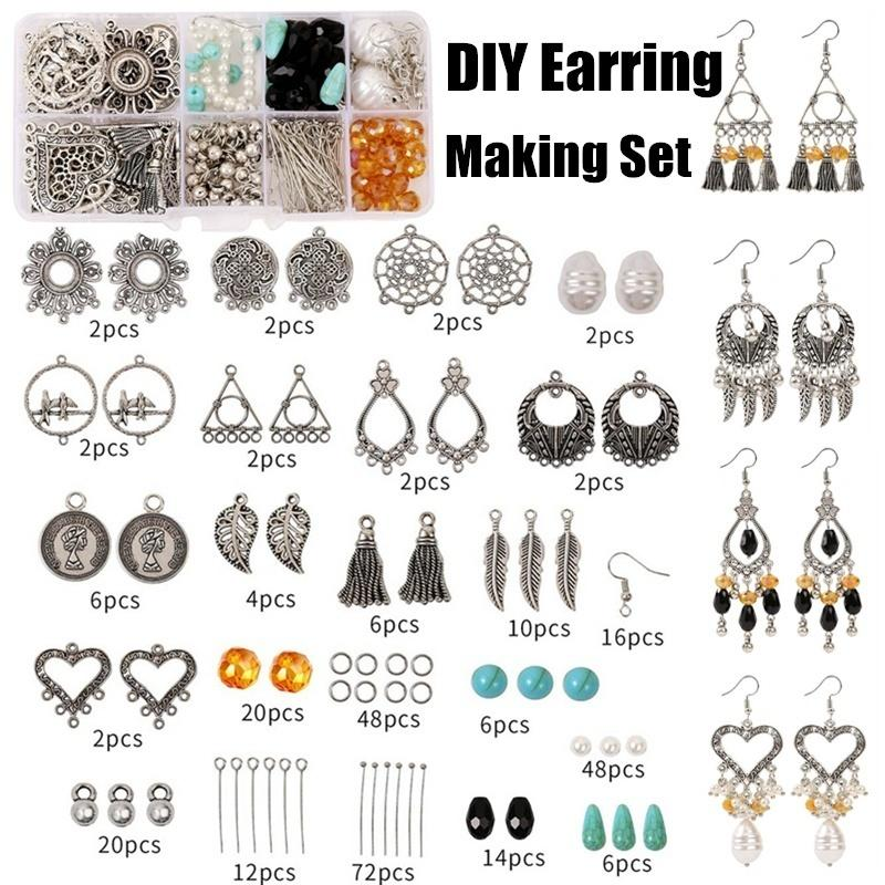306Pcs Retro DIY Alloy Accessories Jewelry findings Set Jewelry Making Tools Earring Hook Making Supplies Handmade Kit