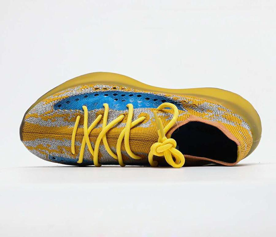 Livraison gratuite de haute qualité 380 Bleu Oat Chaussures de course hommes Kanye West Fashion Blue Orange Sport Chaussures Taille 40-46