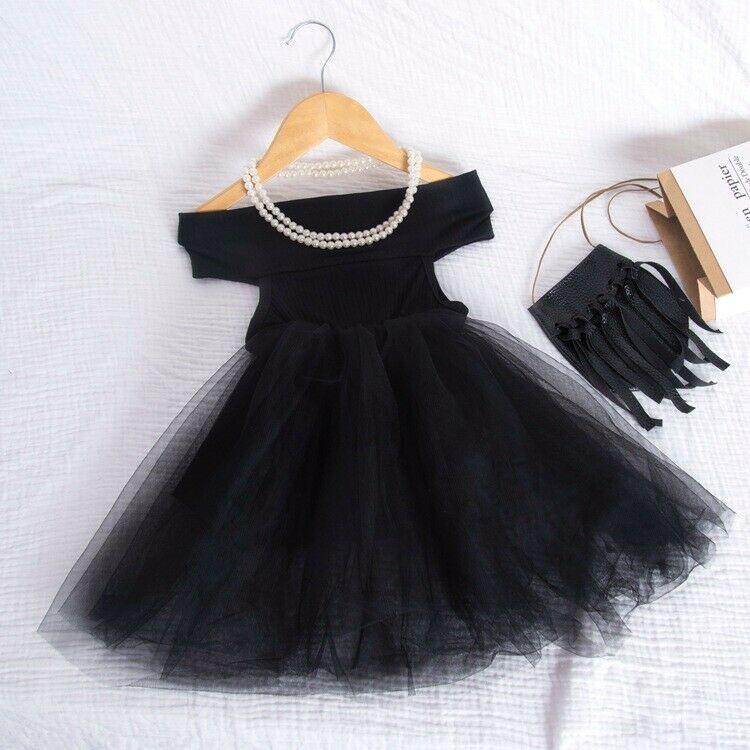 2020 Newborn Baby Girls Off-the-Shoulder Tutu Dress Sleeveless Infant Toddler Princess Party Tulle Sundress