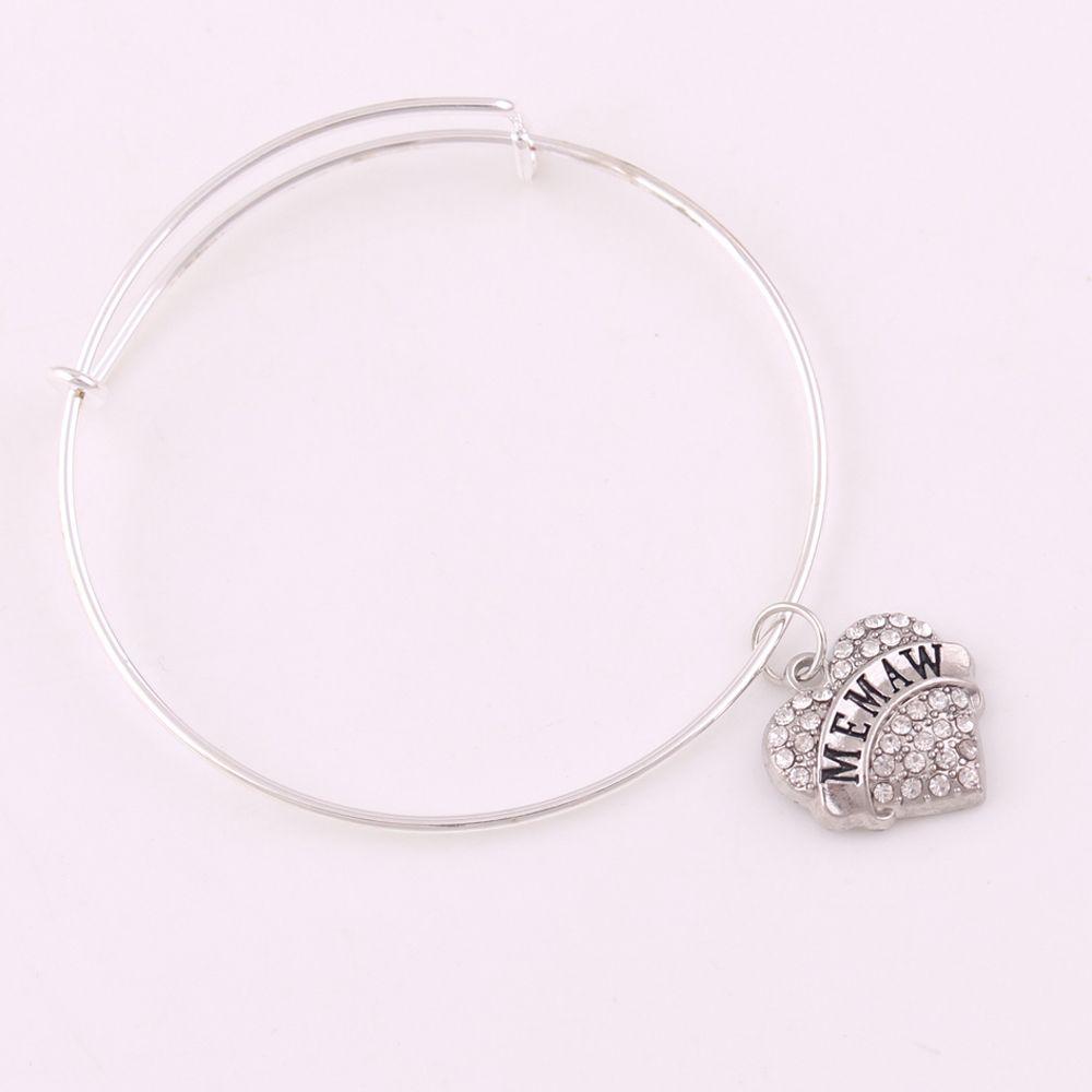 TX007 Ventes directes d'usine mode nouveau design bracelet réglable memam quinceanera meilleurs amis lettre coloré bracelet en zircon bijou femme