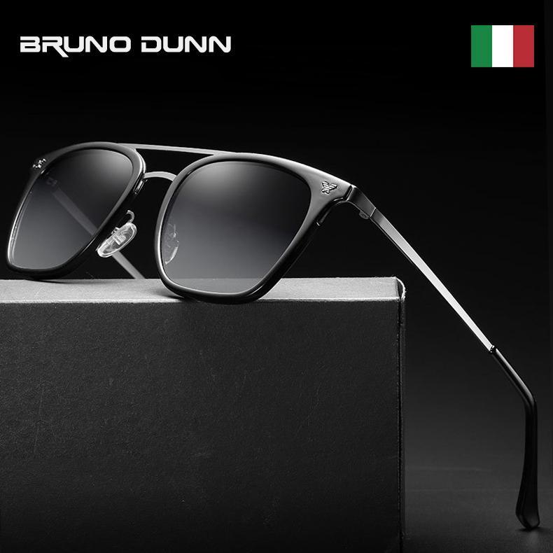 Bruno Dunn Роскошные солнцезащитные очки Женщины мужчин Марка Дизайнер Vintage зеркало ВС очки Feminino Shade С Case 2140 луча