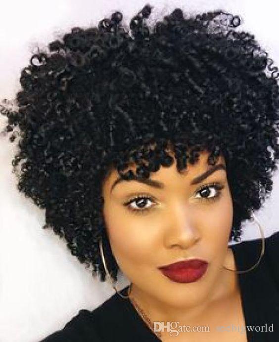 Bu saç kinky kıvırcık peruk Afrika Ameri Brezilyalı Saç simülasyon insan saç afro stokta yumuşak kıvırcık peruk