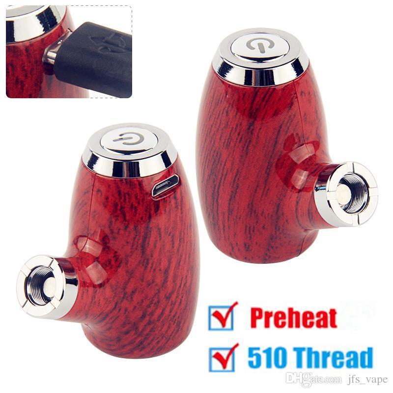 Hotsale Preheating Vape Mod E Pipe Starter Kit eGo 510 thread 900mAh VV Variable Voltage Battery For All 510 Thread Adapter Oil Cartridges