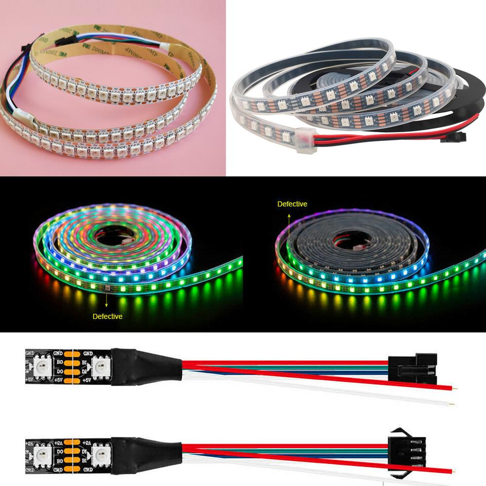 5V WS2813 IC 5050 Rgb Led Pixel Flexle Strip Light Tape Individual Addressable Legislative Digital Dream Magic Color Change Dual