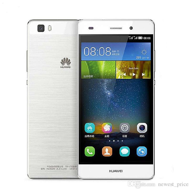 Original Huawei P8 Lite 4G LTE telefone celular Hisilicon Kirin 620 Octa Núcleo 2GB RAM 16GB ROM Android 5.0 polegadas HD 13.0MP OTG Smart Mobile Telefone