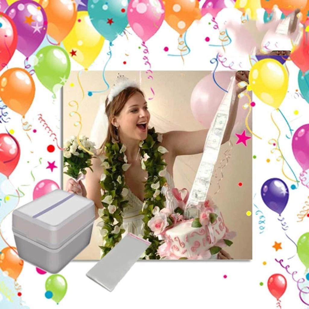 كعكة ATM عيد ميلاد سعيد كعكة صندوق المال مضحك كعكة عيد ميلاد سعيد ATM مطبخ أداة الاكسسوارات خفيفة الوزن # 20