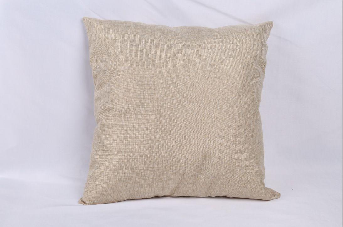 40 * 40 cm Boş keten yastık kapak için ısı transfer baskı katı renk kanepe atmak yastık kılıfı boş süblimasyon yastık kılıfı kapakları