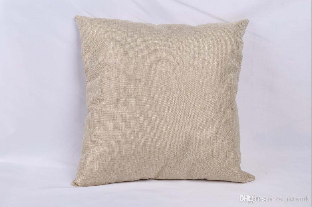 40 * 40 سنتيمتر الكتان غطاء وسادة فارغة لنقل الحرارة الطباعة بلون أريكة رمي سادة فارغة يغطي الحالات وسادة