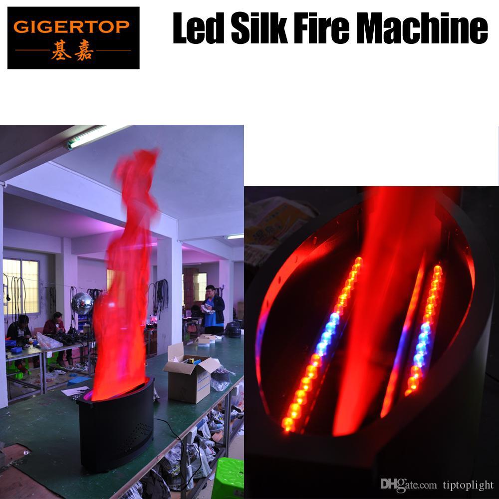 TIPTOP 1.5 متر الحرير LED الشعلة الخفيفة / همية لهب النار آلة مع 36PCS 10MM بقيادة تأثير الضوء، معدات DJ، وعلى ضوء DJ