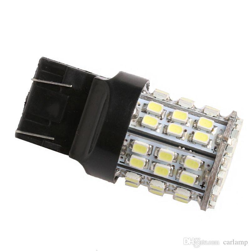 Car T20 Tail Light W21W 7443 1206 64SMD LED White Tail Stop Brake light Reserve Backup Light Lamp Bulb DC 12V