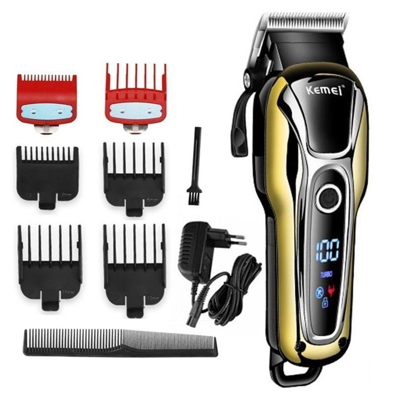 barbeiro cabelo máquina de cortar cabelo profissional trimmer para homens barba máquina de corte de cabelo cortador elétrico corte de cabelo sem fio com fio