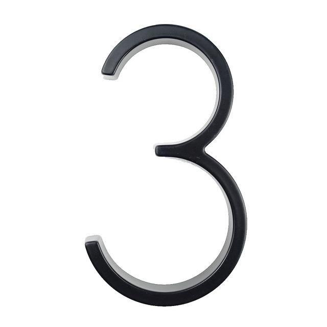 Letras de n/úmeros de casa flotante de 125 mm Alfabeto de puerta grande y moderno Hogar al aire libre N/úmeros negros de 5 pulgadas Direcci/ón Placa Dash Slash Sign # 0-9